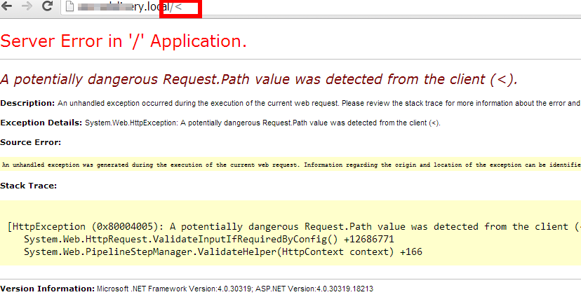 A potentially dangerous Request.Path